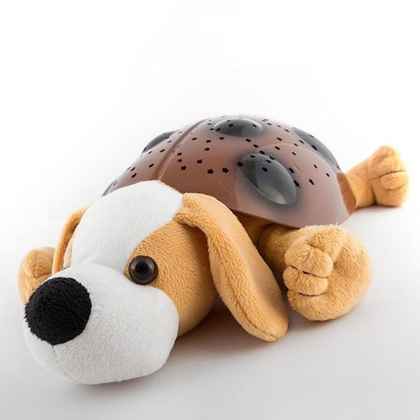 Magický plyšový psík s LED projektorom a hudbou