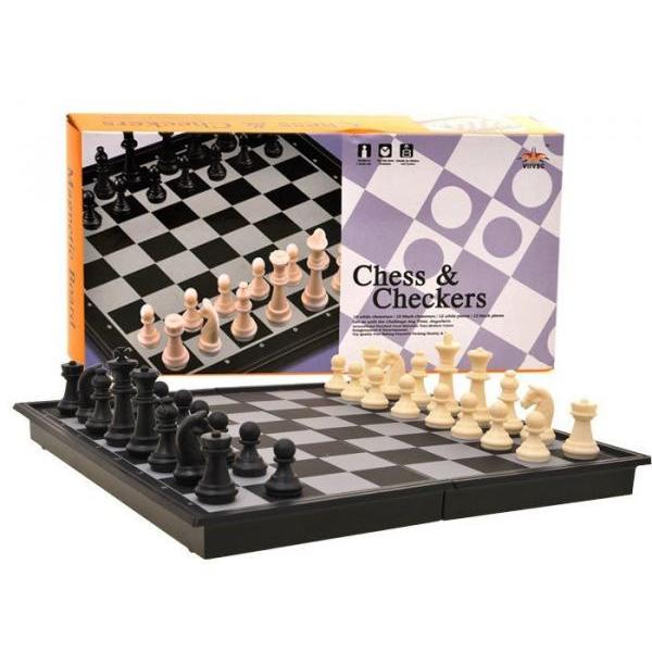 Magnetický turistický šach 2 v 1