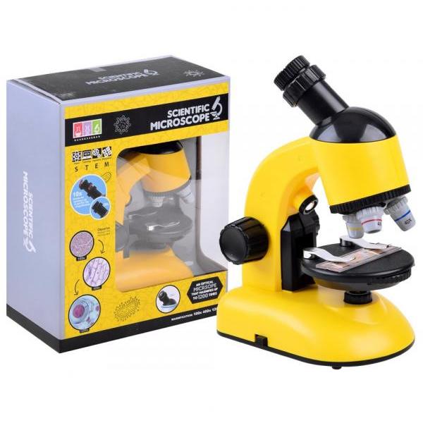 Mikroskop s príslušenstvom žltý