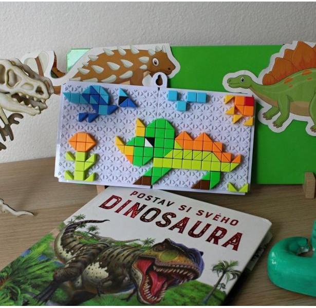 Mozaiková stavebnica - dinosaury