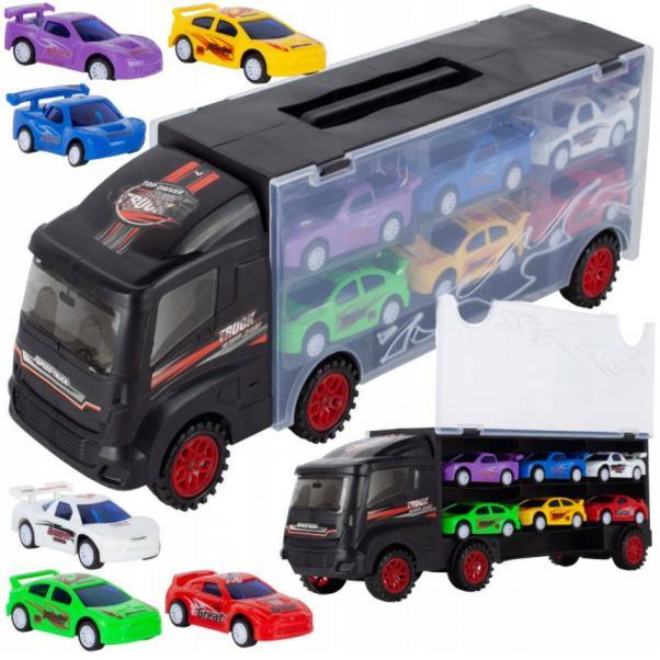 Nákladné auto so 6 autami