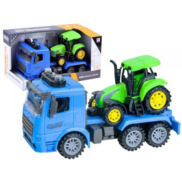 Nákladné auto + traktor