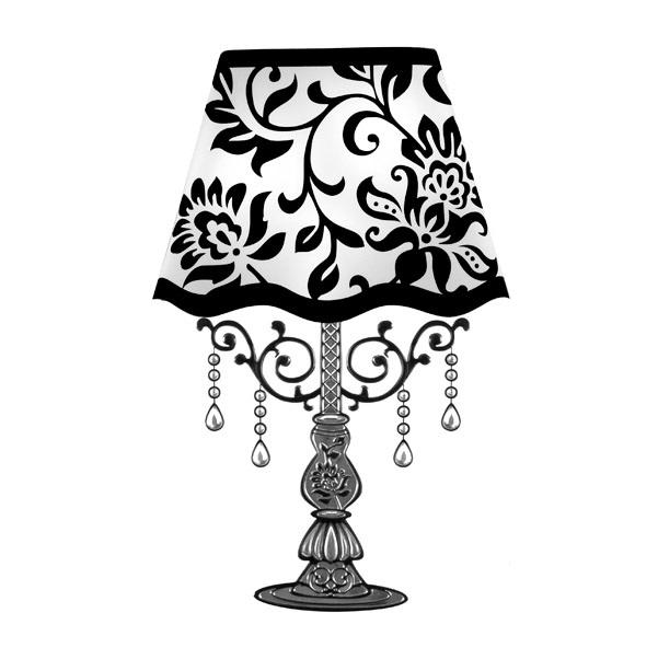 Nálepka na stenu s LED Lampa
