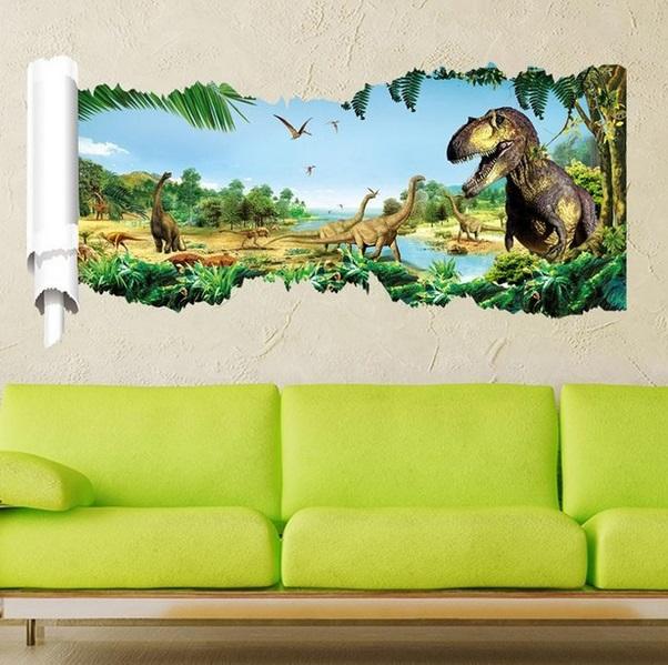 Nálepky na stenu Dinosaury