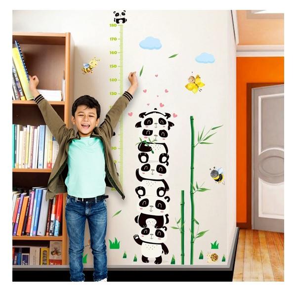 Nálepky na stenu - meter panda