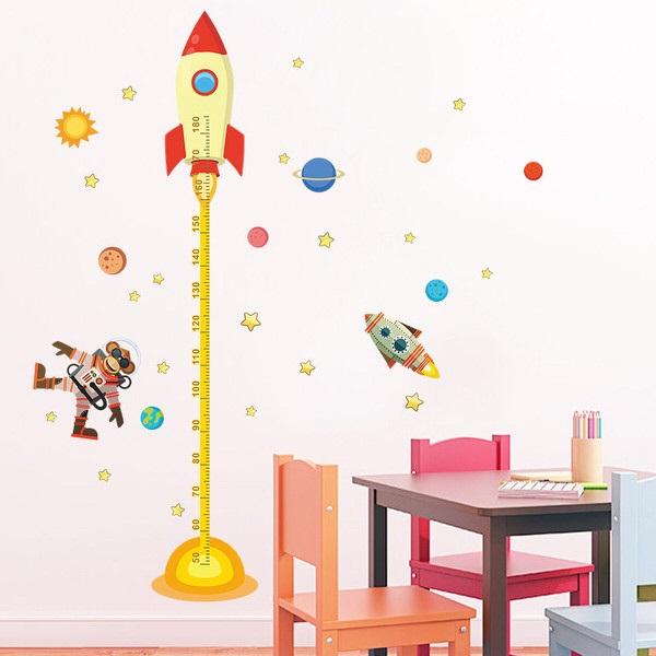 Nálepky na stenu - meter Raketa