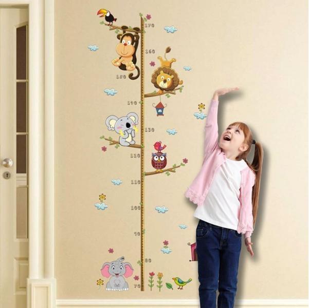Nálepky na stenu - meter so zvieratkami