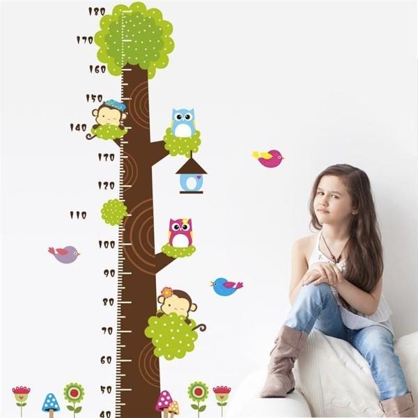 Nálepky na stenu - strom s metrom