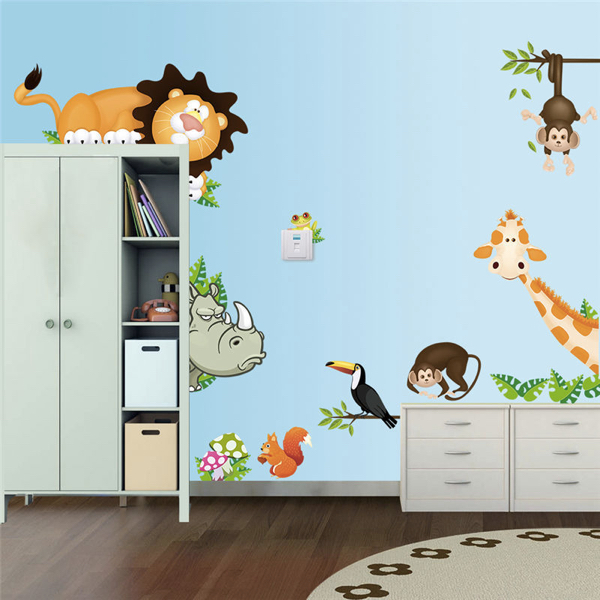 Nálepky na stenu zvieratká zo safari