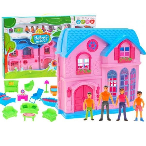 Očarujúci domček pre bábiky s balkónom