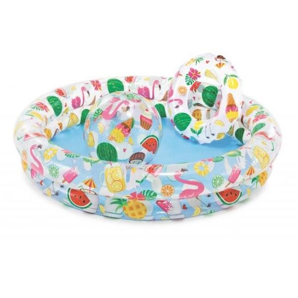 Ovocná súprava detský bazén, plávacie koleso a lopta INTEX 59460