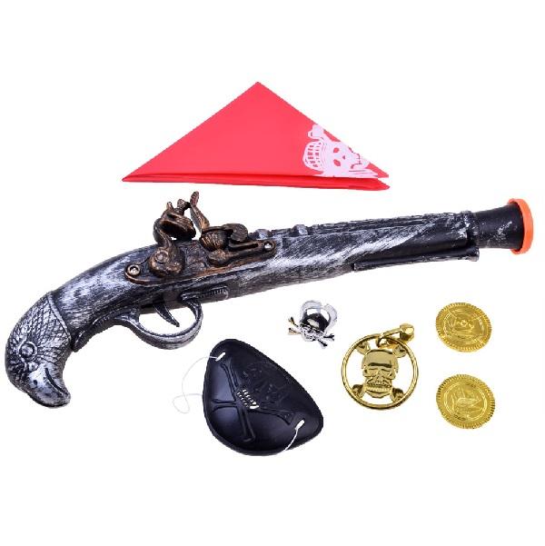 Pirátska pištoľ s doplnkami