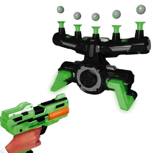 Pištoľ na penové náboje s pohyblivým terčom