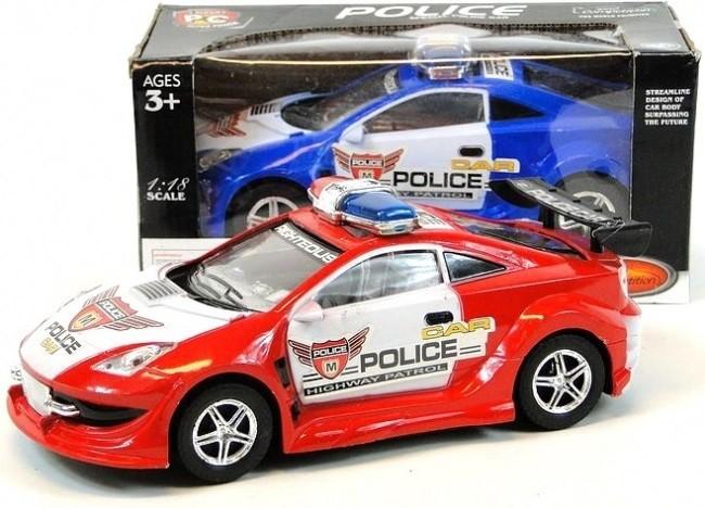 Policajné auto na batérie 25 cm