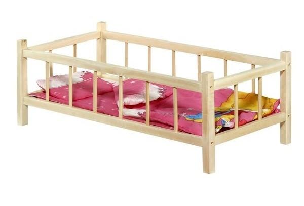 Postieľka pre bábiky drevená 60 cm