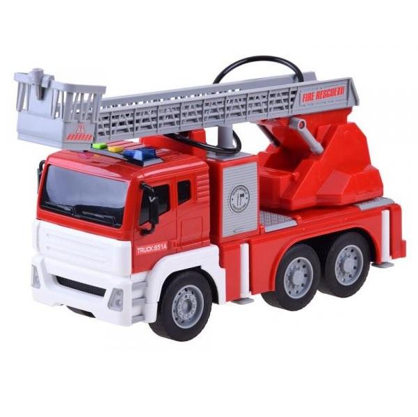 Požiarnické auto na batérie so striekačkou