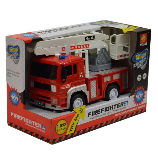 Požiarnické auto so svetlom a zvukom