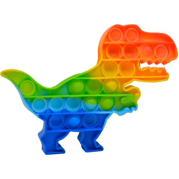 PUSH BUBBLE POP IT dinosaurus dúhový