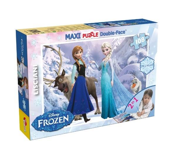 Puzzle Frozen 108 dielne s maľovankou