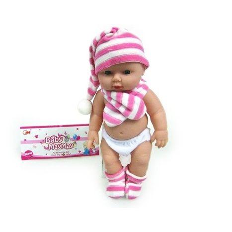 Bábika - bábätko s plným bruškom 30cm