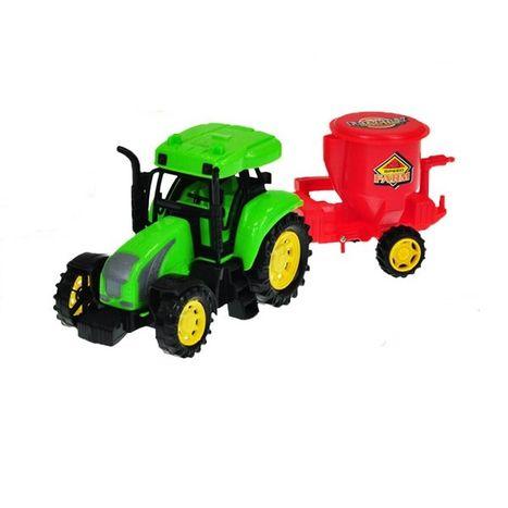 Detský farmársky traktor 27 cm s vlečkou