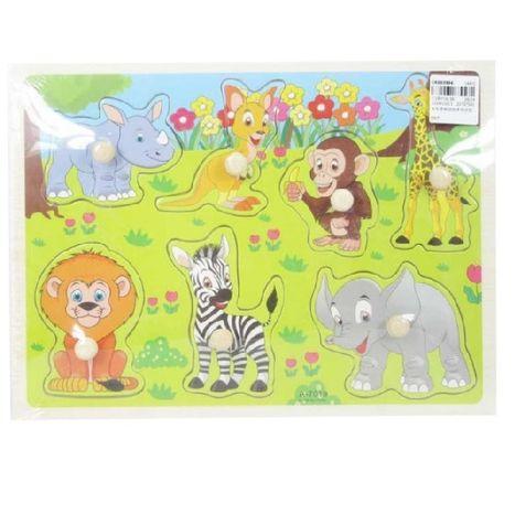 Drevené puzzle zvieratka