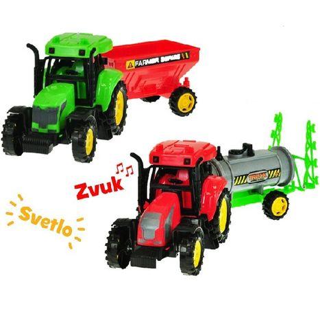 Farmársky traktor 27 cm s vlečkou