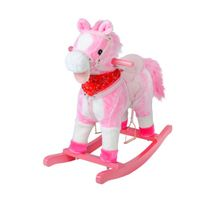 Hojdací koník 74 cm - ružový