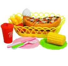Košík s potravinami na krájanie