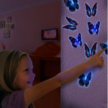 LED motýľ s prísavkou