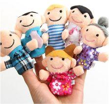 Plyšové bábky na prsty - rodinka