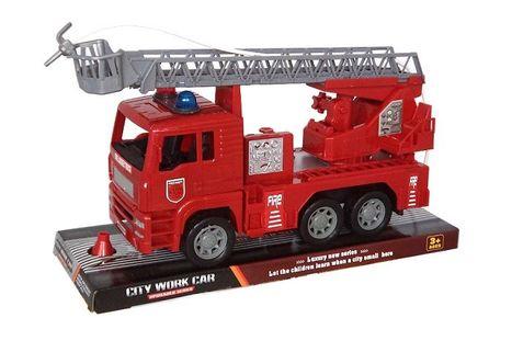 Požiarnické auto so striekačkou 25 cm