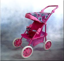 Športový kočík pre bábiky Ania - červený