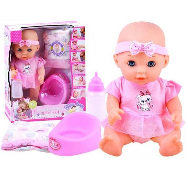Roztomilá bábika bábätko v ružovom oblečení