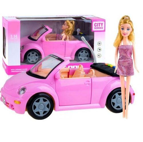 Ružový kabriolet Garbusek s bábikou