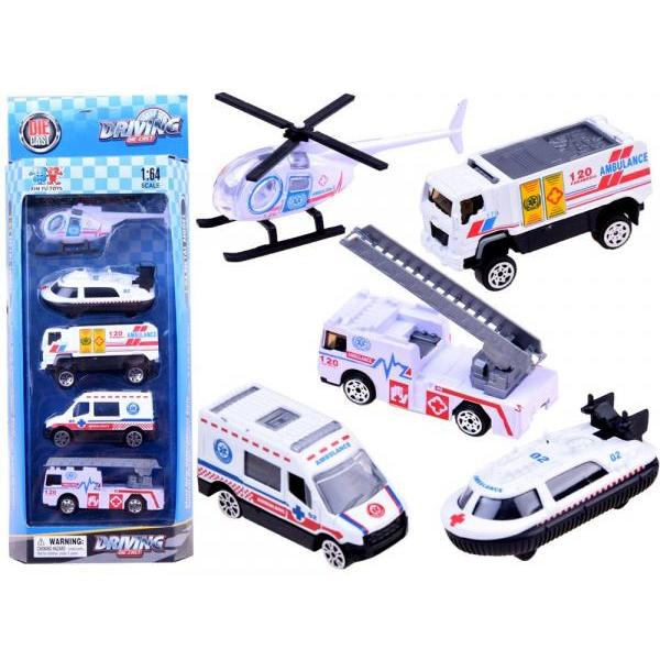 Sada 5 kovových aut prvej pomoci
