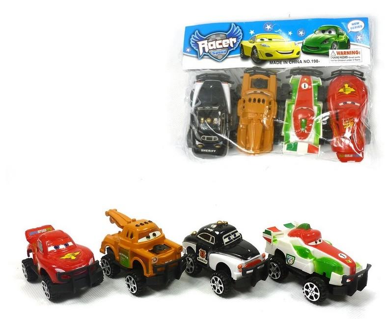 Sada aut CARS 4 ks