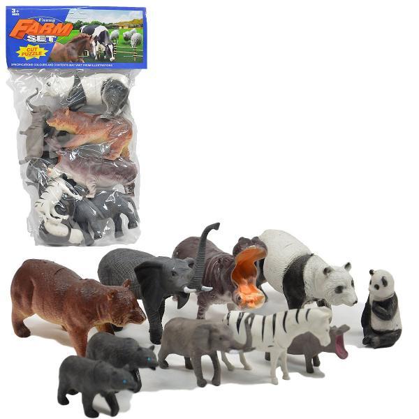 Sada divokých zvierat - 10 ks
