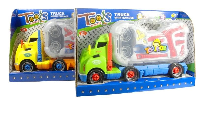 Detské nákladné auto s náradím