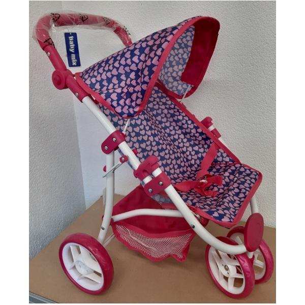 Športový kočík pre bábiky Baby Mix 9671-M1809W