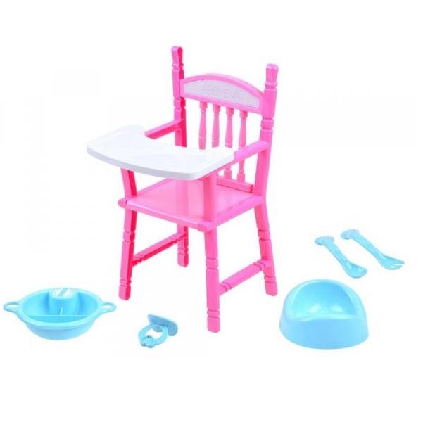 Stolička pre bábiky s doplnkami