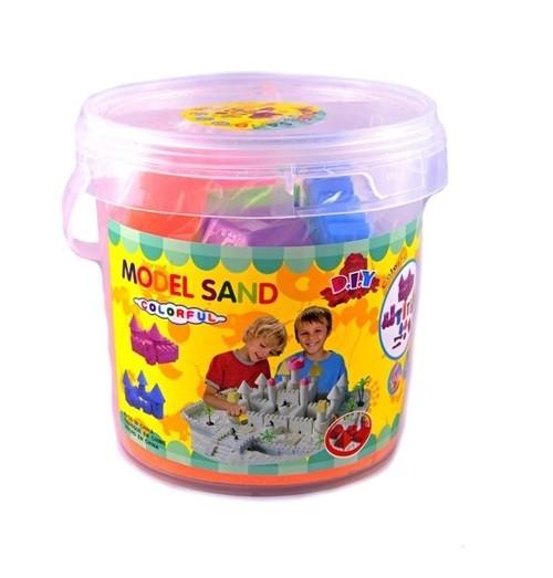 Tekutý kinetický piesok - stredný set 1000g - plastový box