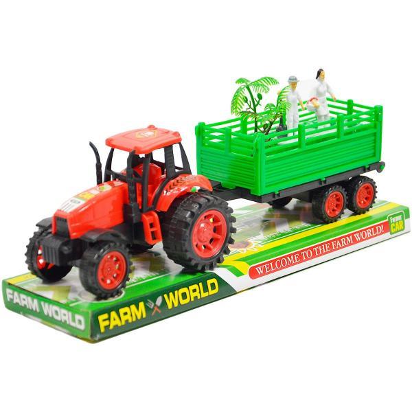 Traktor s vlečkou a postavičkami