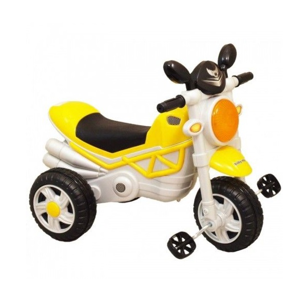 Trojkolesová motorka yellow HZ-221 Baby Mix