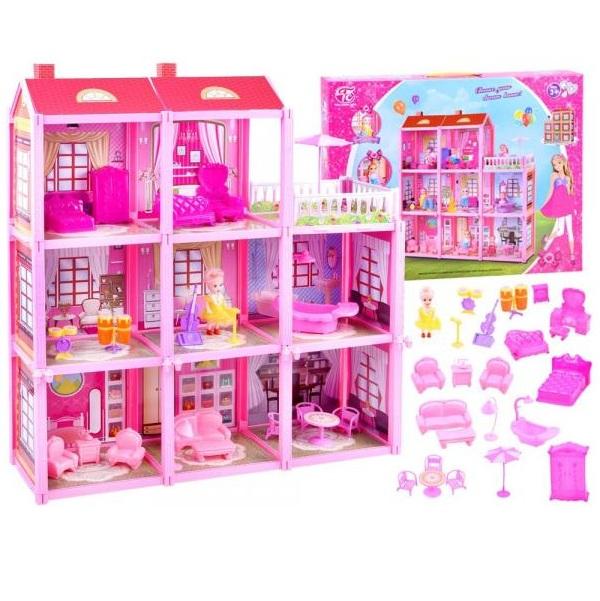 Veľký domček s bábikou a nábytkom