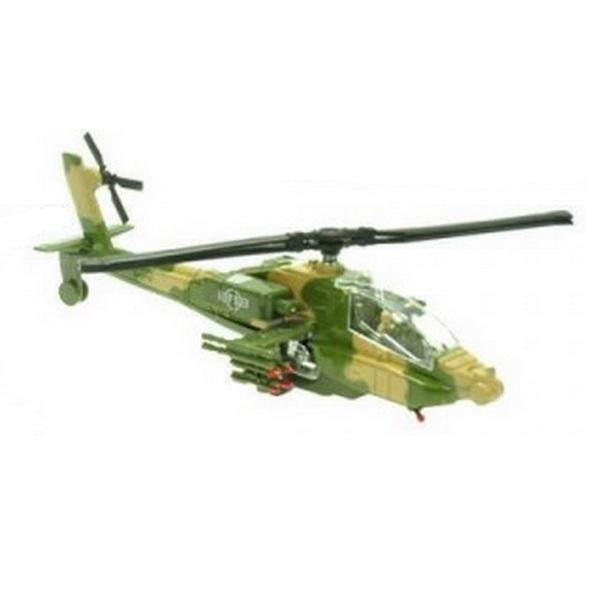 Vojenská helikoptéra so svetlom a zvukom