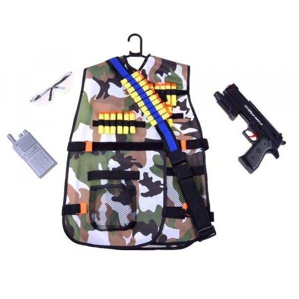 Vojenská vesta s doplnkami