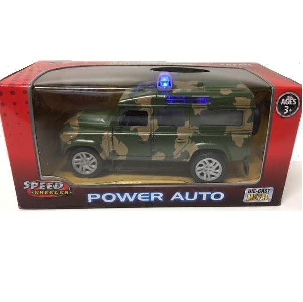 Vojenský Jeep so svetlom a zvukom