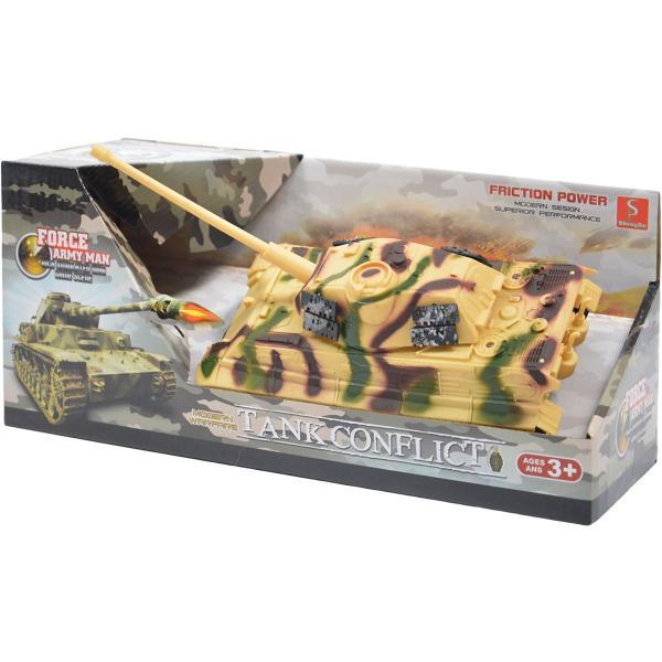 Vojenský tank na zotrvačník so svetlom a zvukom