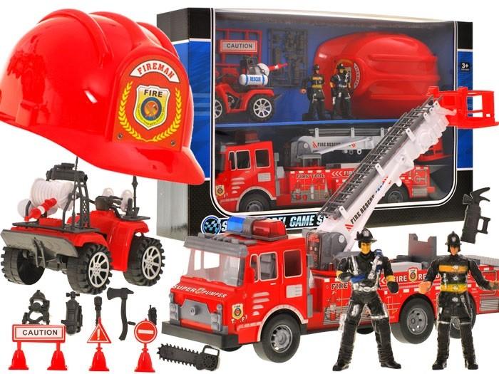 Autá požiarnej jednotky + prilba